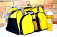 Riverdale Centre Yellow Gym Bag with Water Bottle