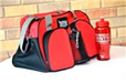 Riverdale Centre Red Gym Bag with Water Bottle