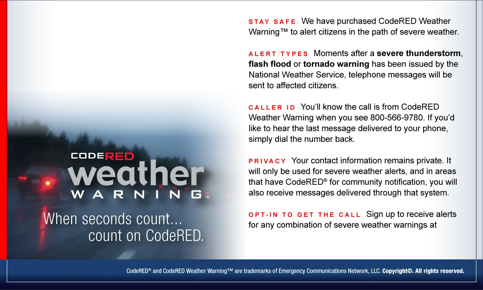 CodeRED WEATHER WARNINGS | Riverdale, GA - Official Website