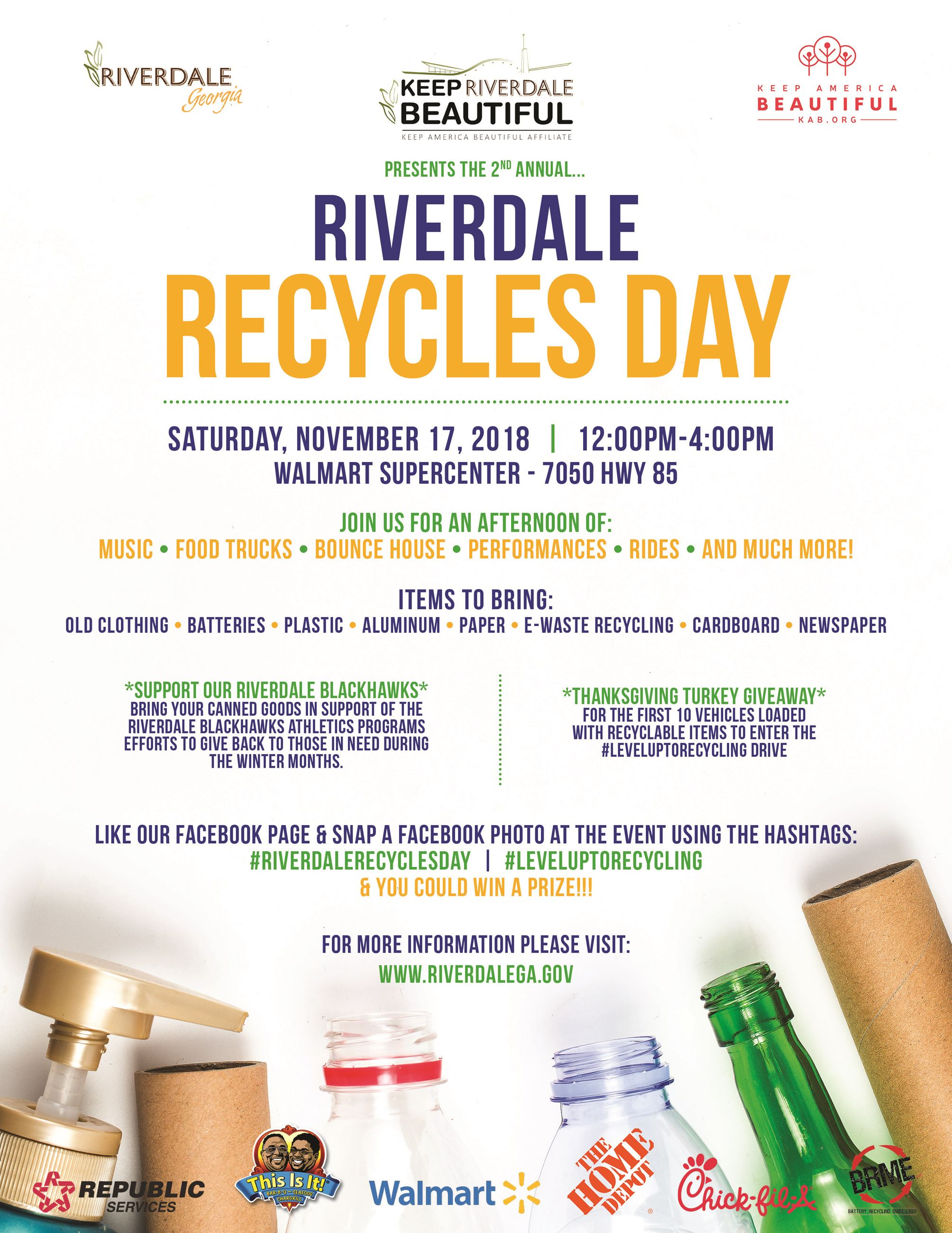 Riverdale Recycles Day: Level UP to Recycling