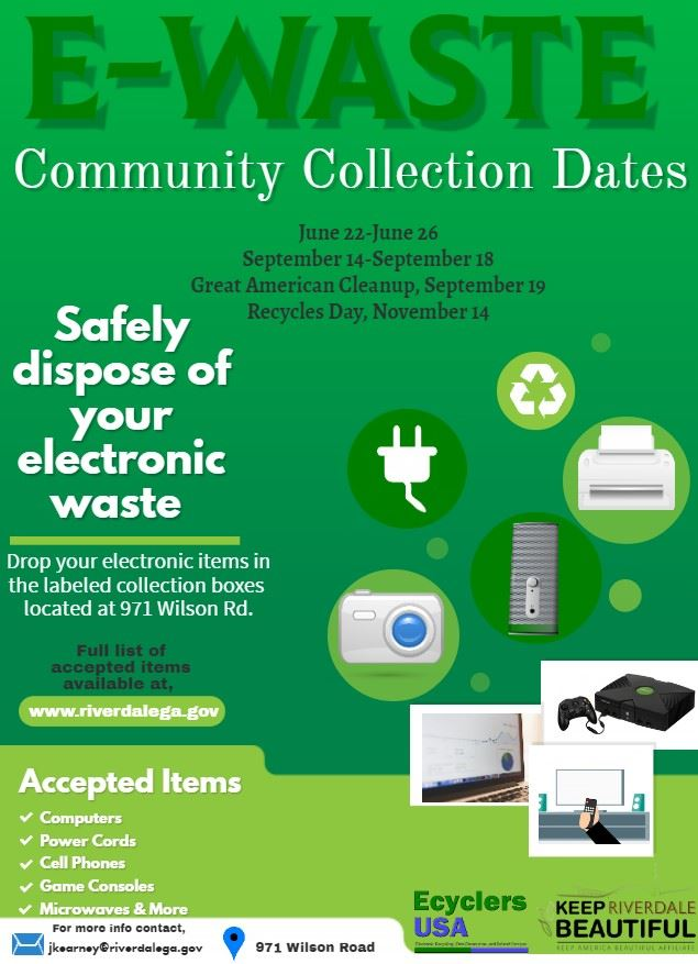Revised 2020 E-waste Collection Dates