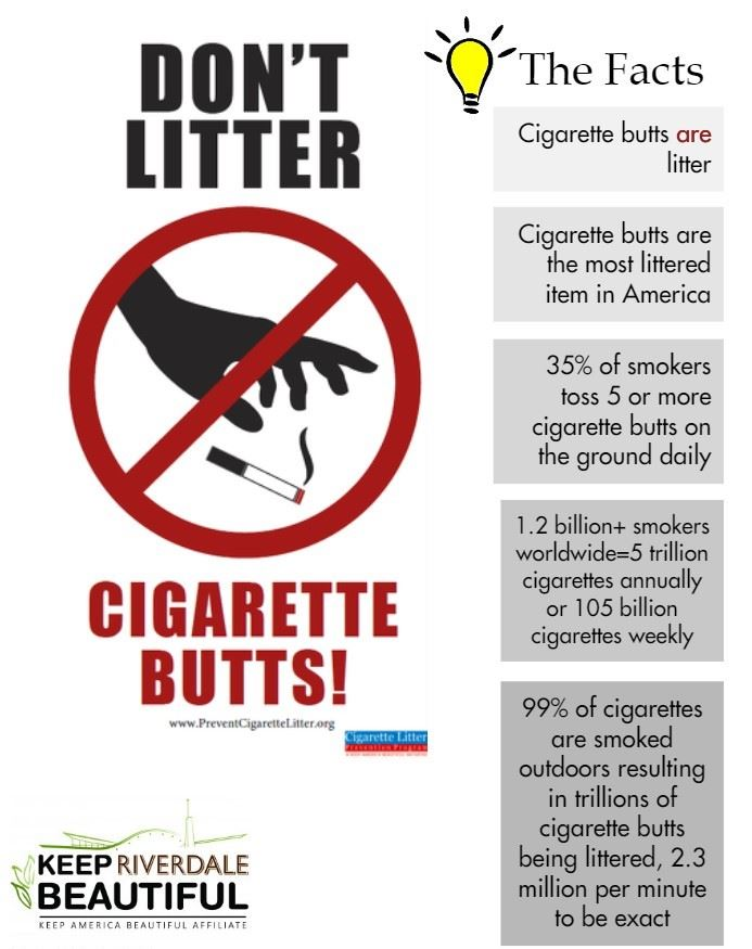 Dont Litter Cigarette Butts
